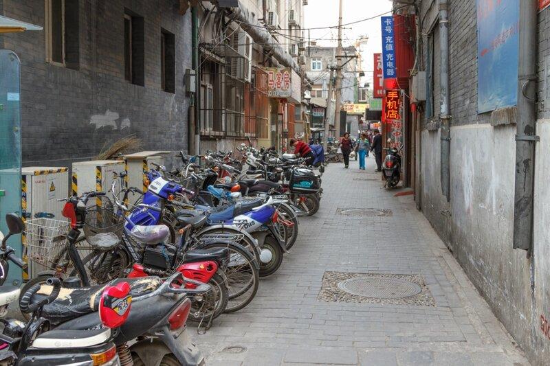Мопеды и мотоциклы, Улица Дачжалань, Пекин