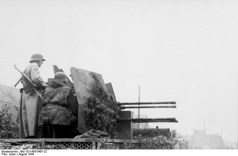 Warschauer Aufstand, Vierlingsflak