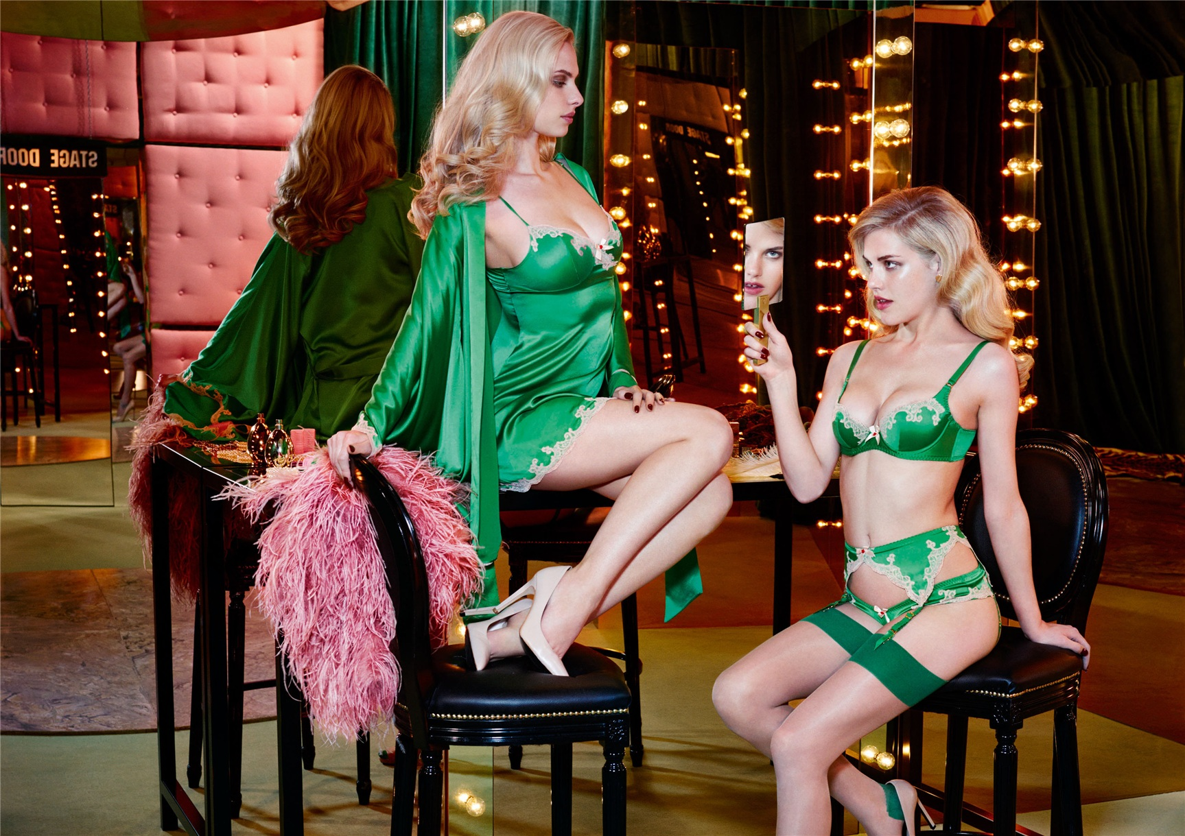 Ashley Smith, Dioni Tabbers by Christian Larson for Agent Provocateur fall/winter 2014/15 -Molly
