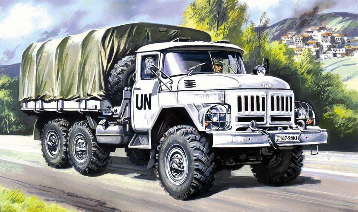 Армейский грузовой автомобиль ЗИЛ-131