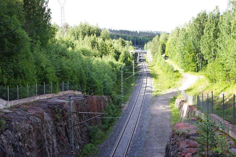 туннель железной дороги возле Ювяскюля (Jyvaskyla)