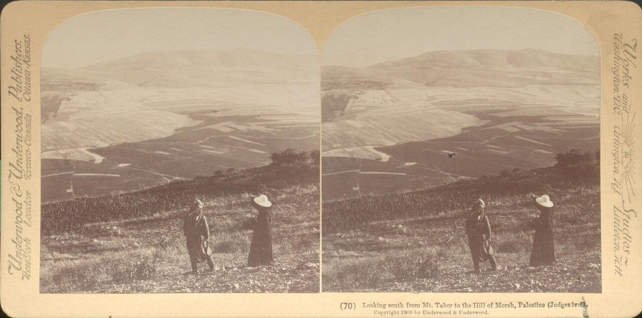 Вид с горы Фавор. 1900