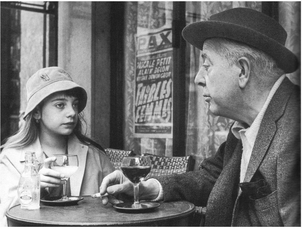 Жак Превер с дочерью