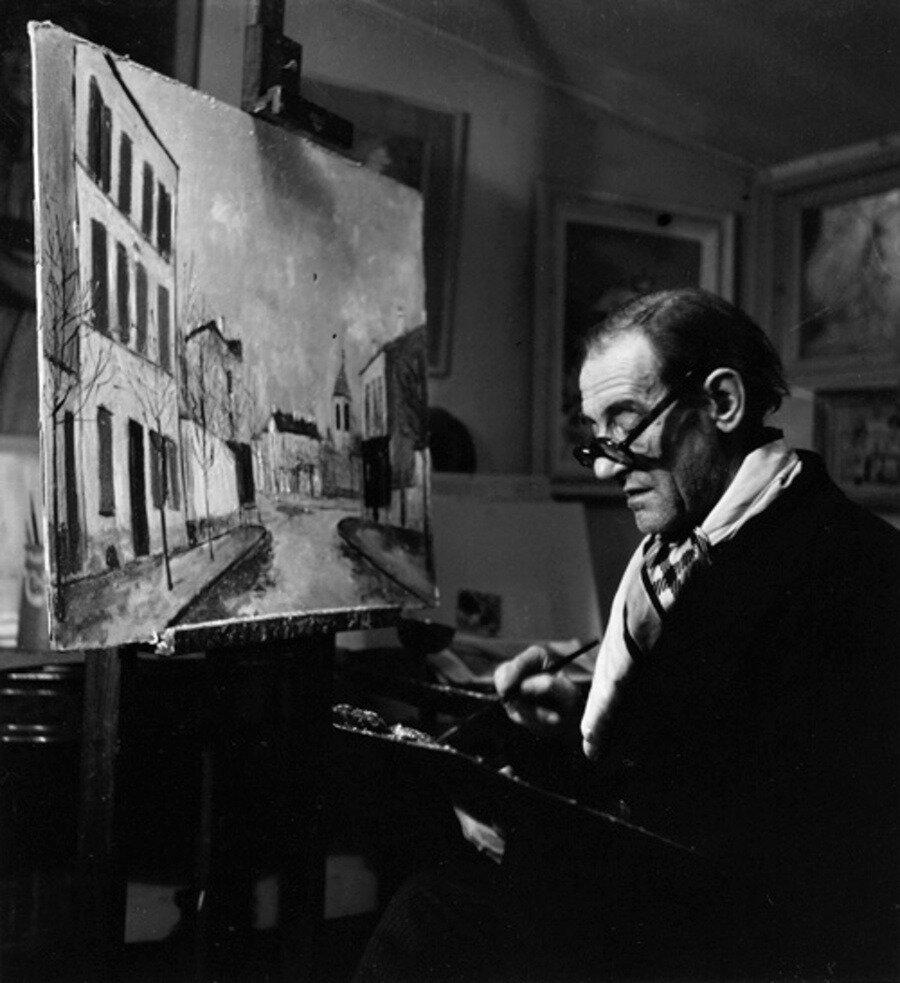 1946. Морис Утрилло в студии