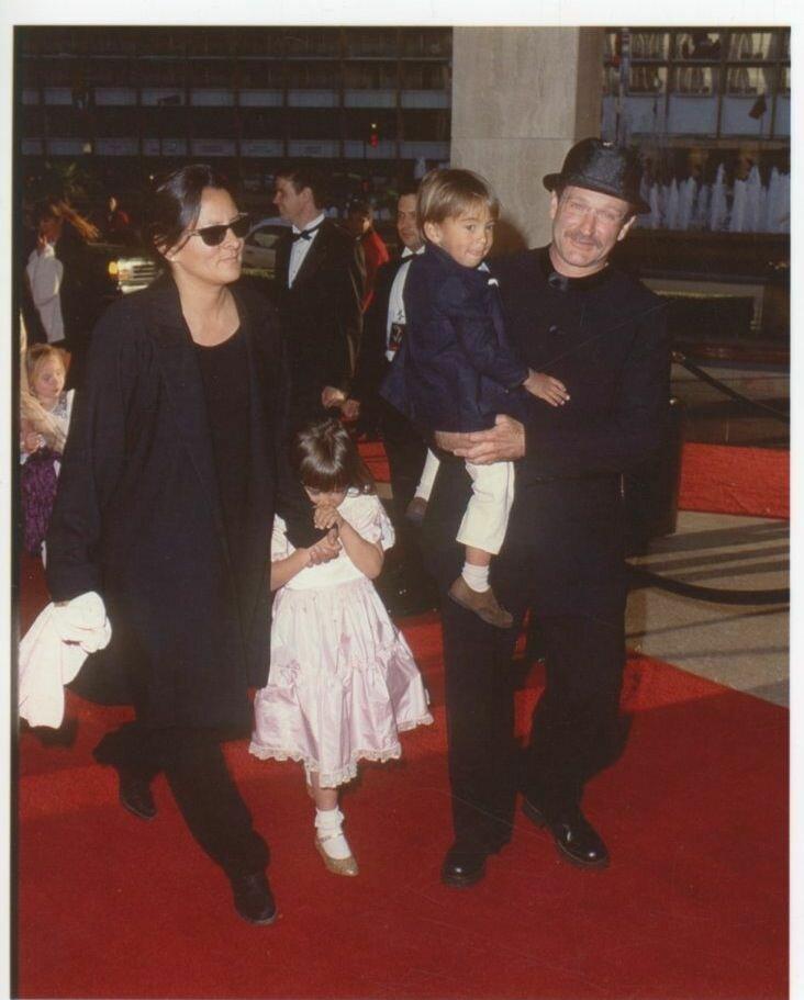1995. Робин Уильямс и его семья