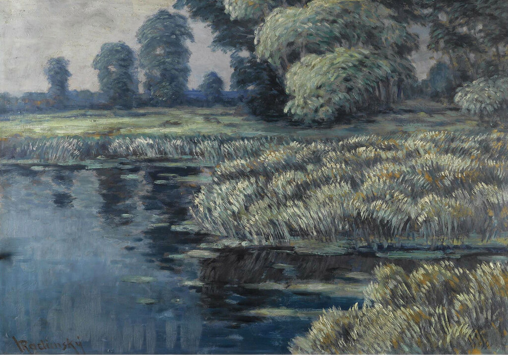 Vaclav Radimsky - Willows and Reeads in a River Landscape.jpeg