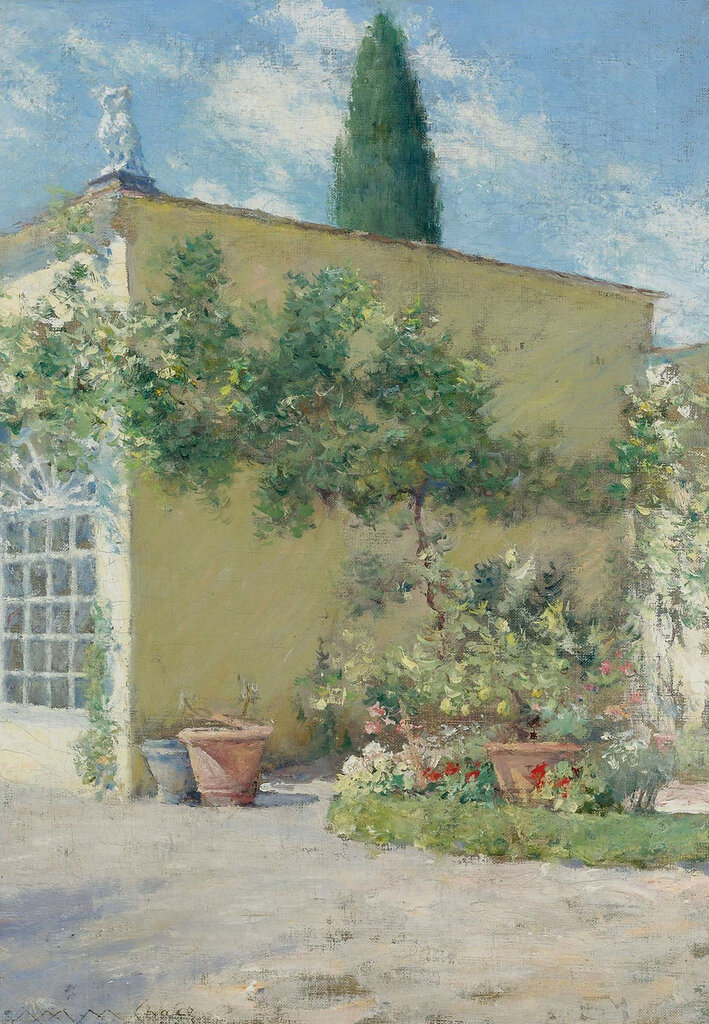 William Merritt Chase - Orangerie of the Chase Villa in Florence, 1910.jpeg