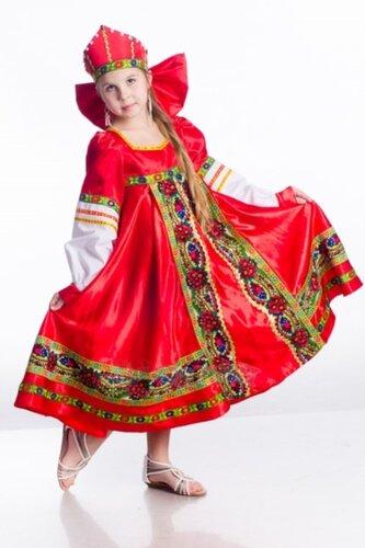 Детский карнавальный костюм Народный костюм, красный