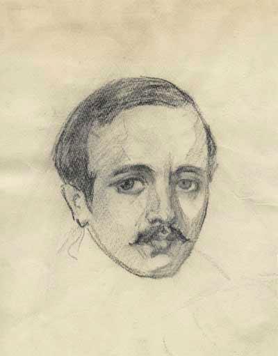 Н.П.Ульянов. Эскиз к портрету М.Ю.Лермонтова. 1940–1941.jpg