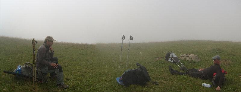 Перешеек Пастуховой и Карабетом, туман