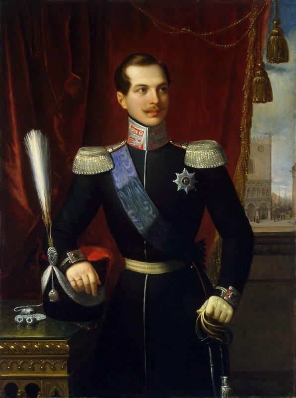 Портрет великого князя Александра Николаевича_1838_130 x 98_х.,м._Санкт-Петербург, Эрмитаж