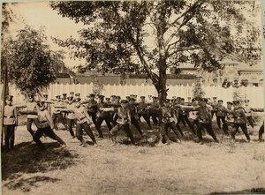 Группа воспитанников Ревельского технического железнодорожного училища во время занятий.