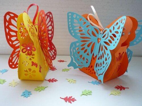 Ажурная коробка-бабочка