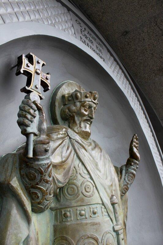 Скульптура Владимира Крестителя после реконструкции