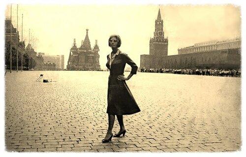 Софи Лорен на Красной площади