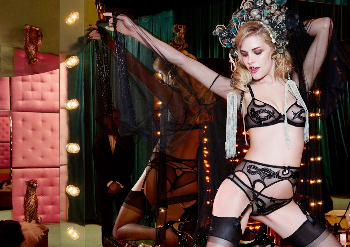 Ashley Smith, Dioni Tabbers by Christian Larson for Agent Provocateur fall/winter 2014/15 -Di-Di