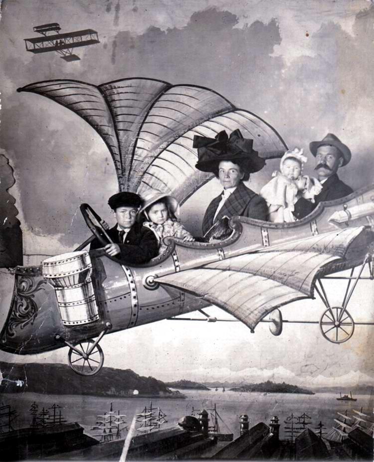 Художественные фоны для фотографий авиационной и воздухоплавательной тематики (8)