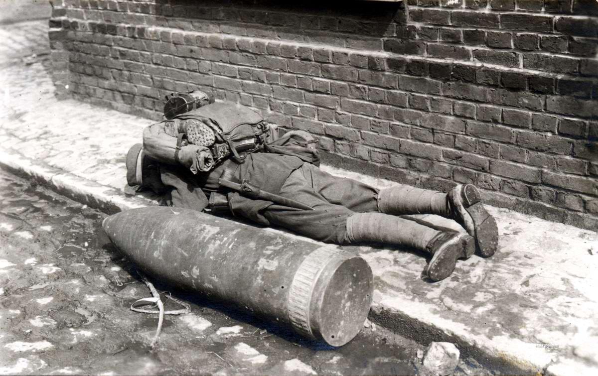Снаряд калибра 30,5 см для уничтожения хорошо укрепленных боевых позиций