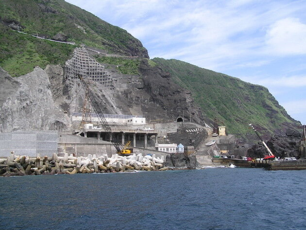 Вулкан Аогасима (Aogashima). Япония