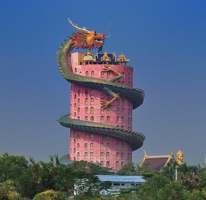 Храм Wat Samphran (Ват Сампхан). Таиланд