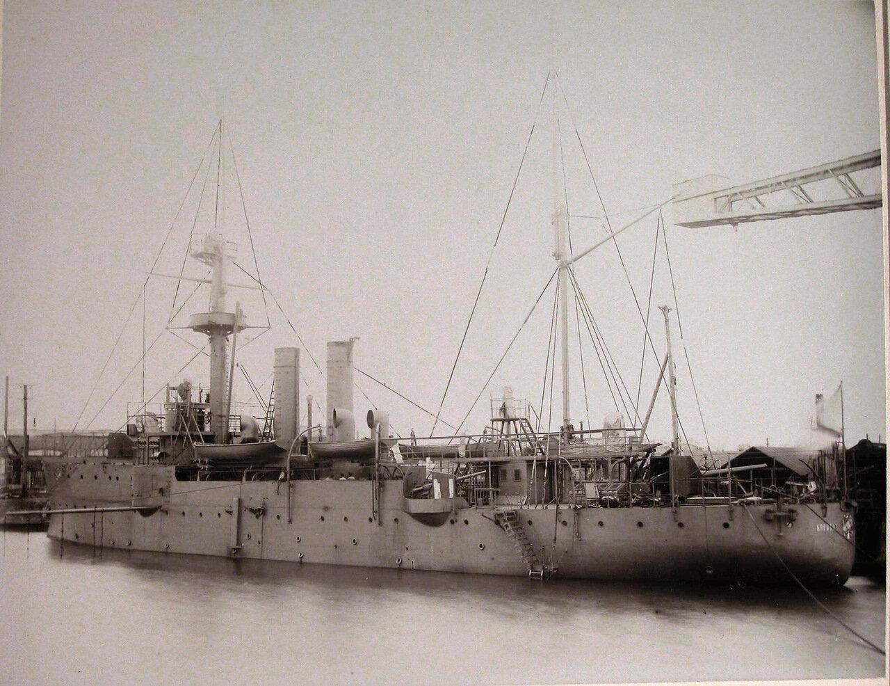 27. Общий вид канонерской лодки «Кореец» после завершения постройки. 1907
