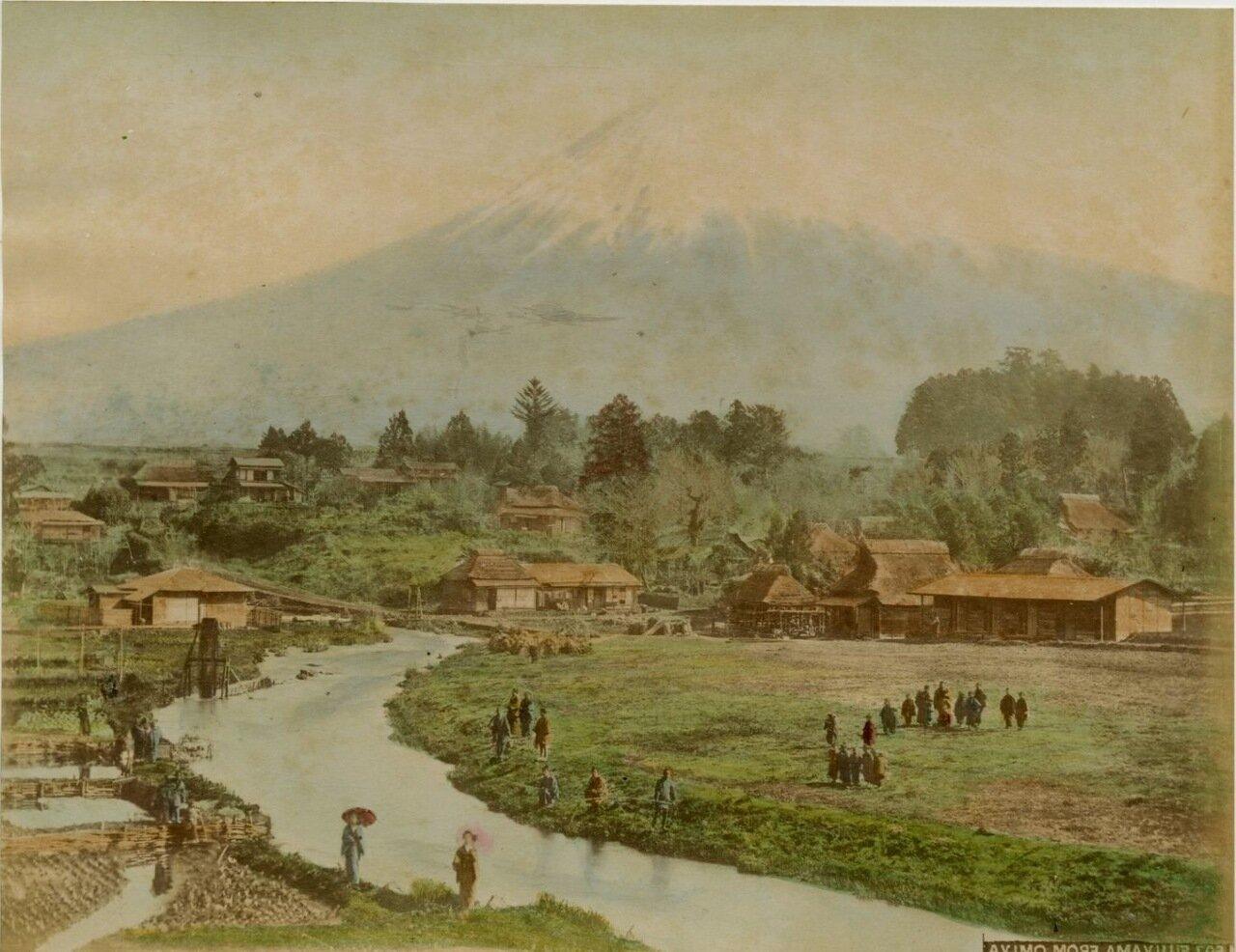 Фудзияма из деревни Омии