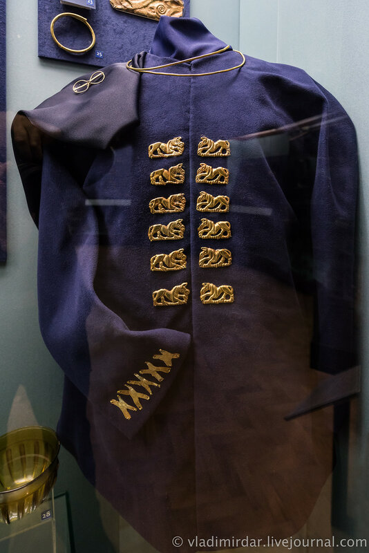 Комплекс украшений мужского сарматского костюма.