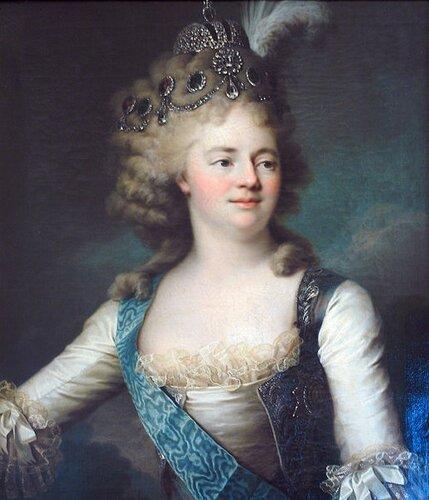 Портрет великой княгини Марии Фёдоровны (1759-1828), Конец 1790-х,  вторая жена императора Павла. Вуаль Жан Луи (Voille, Jean Louis), 1744 - не ранее 1803.