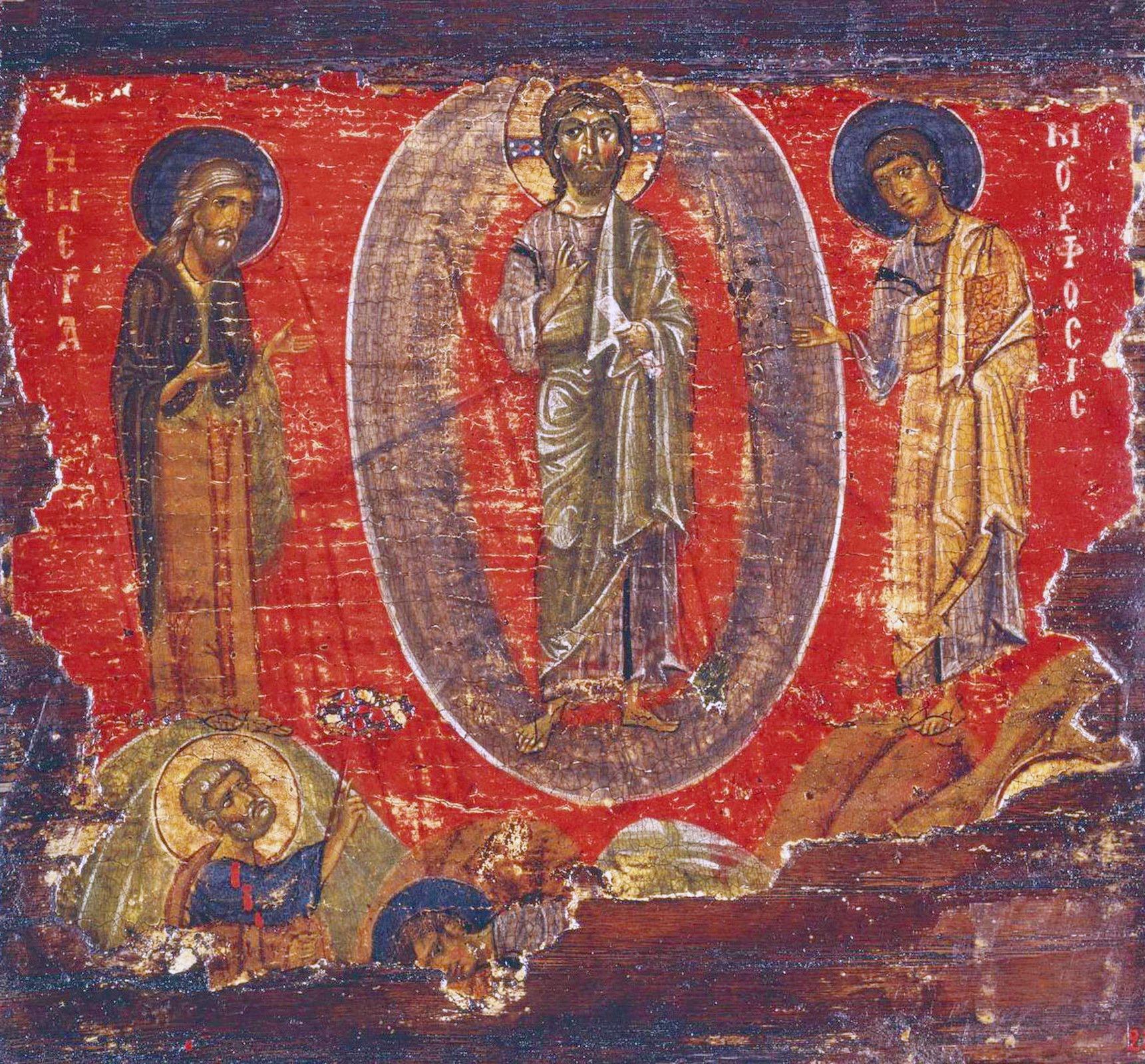 Преображение Господне. Икона. Византия, XII век. ГЭ.