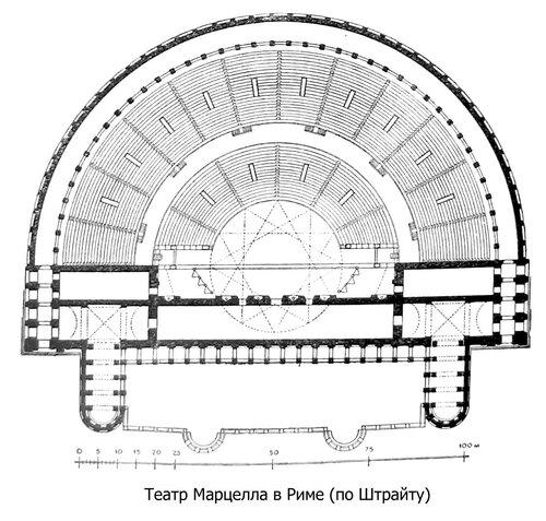 Театр Марцелла в Риме, план