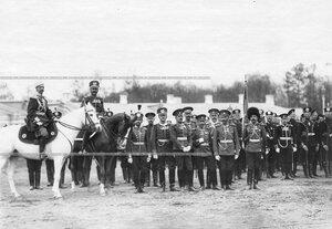 Группа офицеров полка в день храмового праздника.