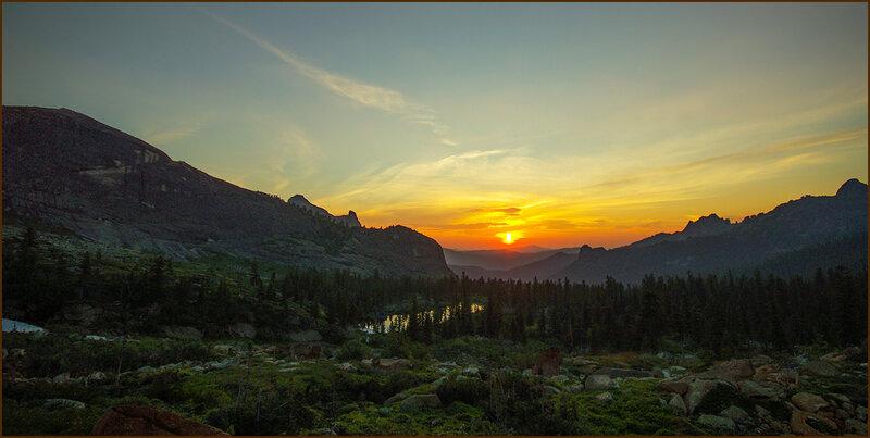Закат в Ергаках