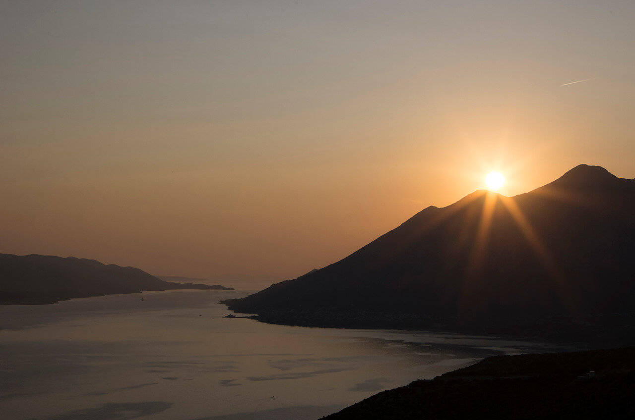 закат над горой св.Илии