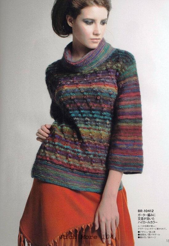 Модели для вязания из меланжевой пряжи спицами