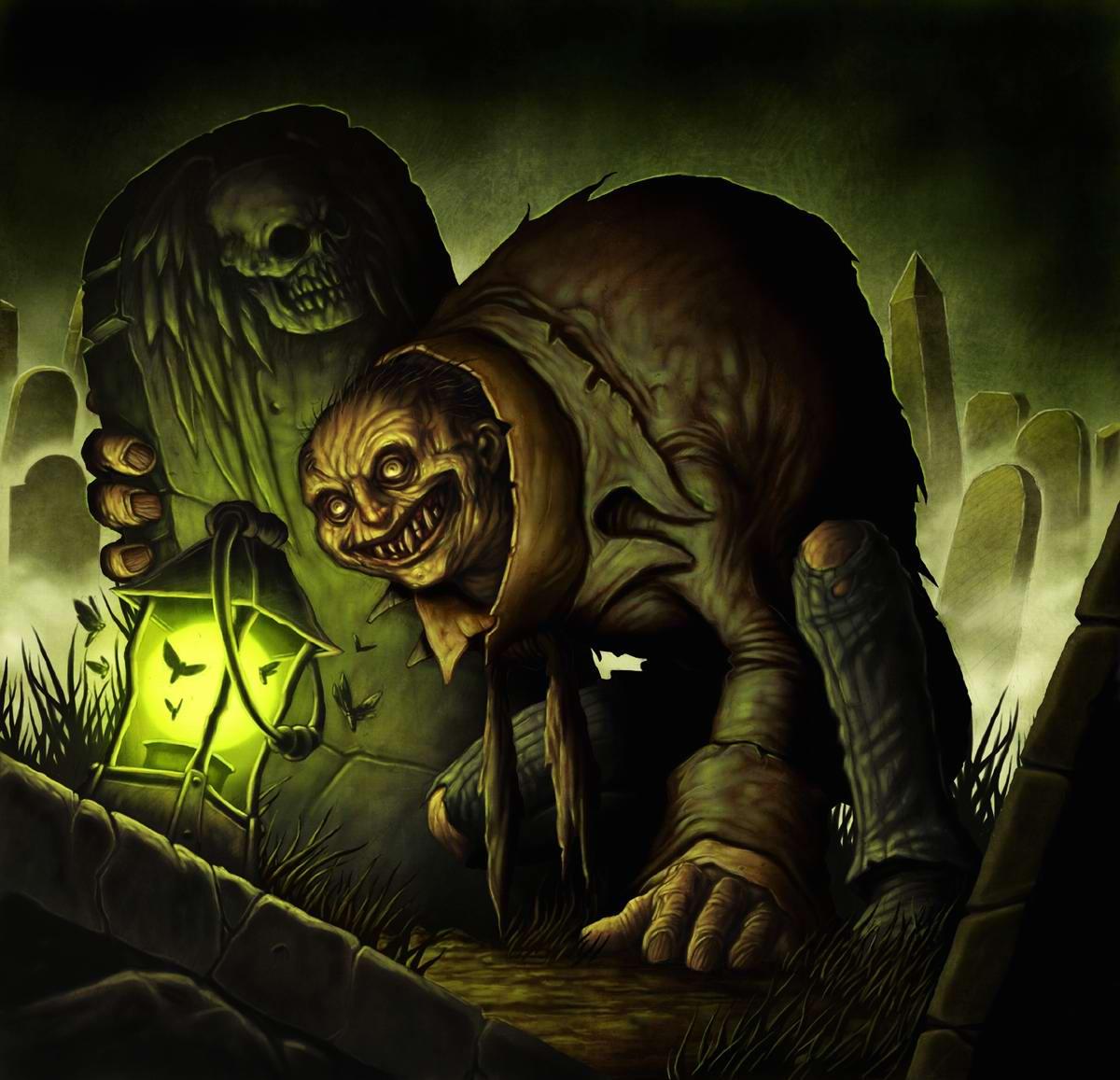 Посреди ночи у могильной плиты dave allsop