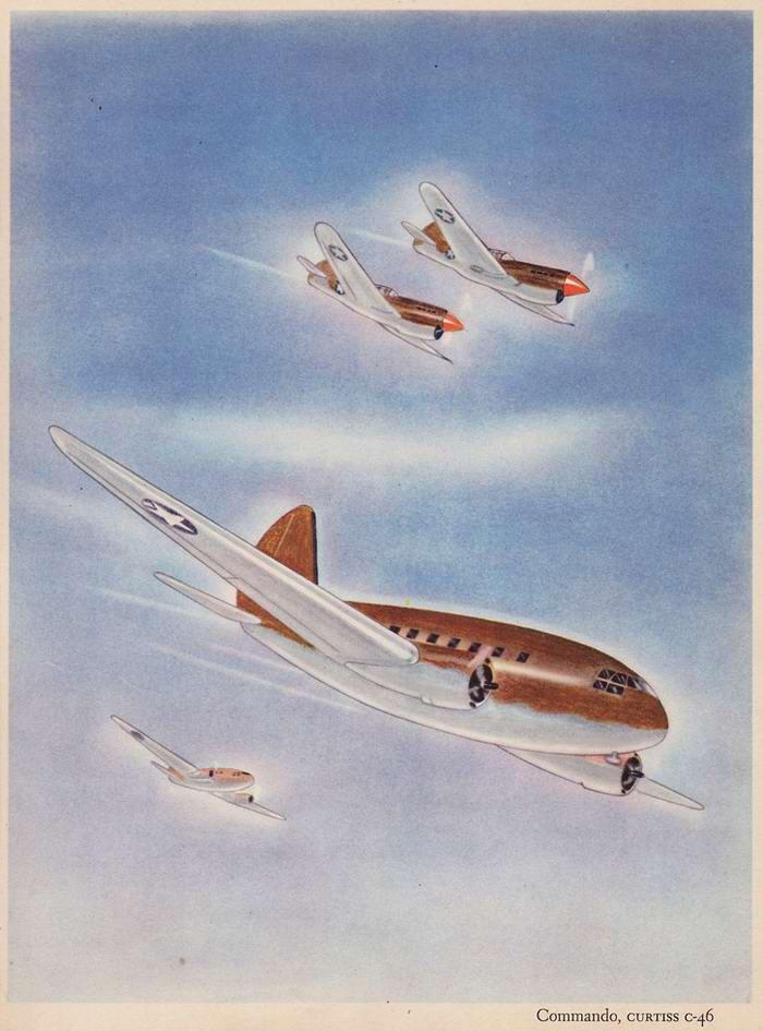Curtiss C-46 Commando - транспортный самолет