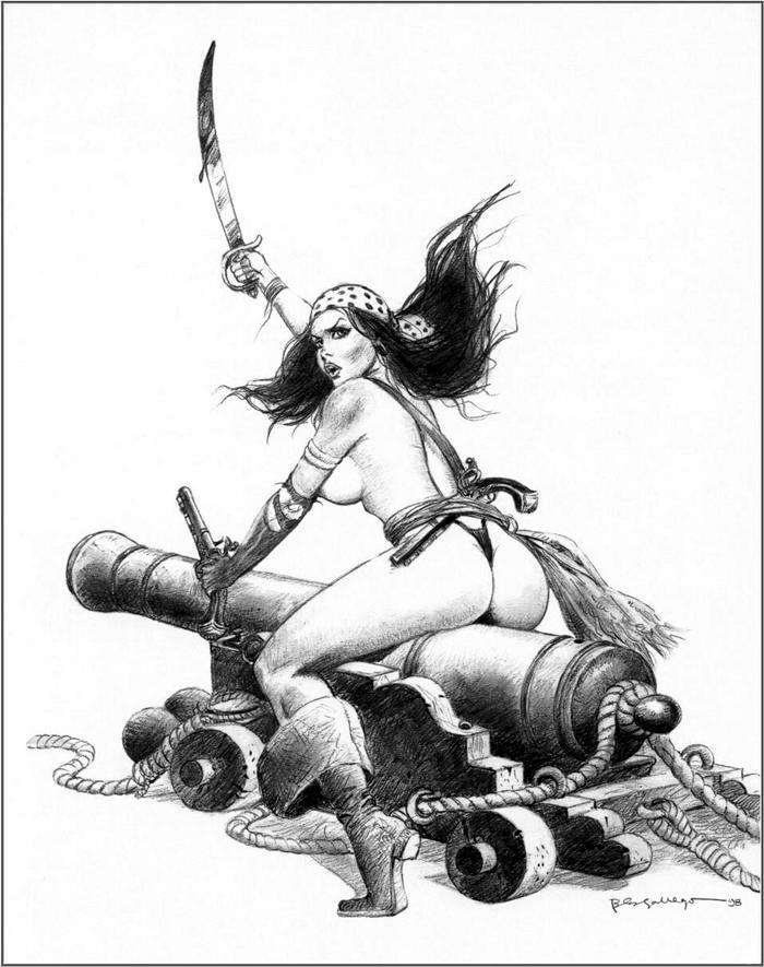 Графика: истории из жизни девушек - пираток (75)