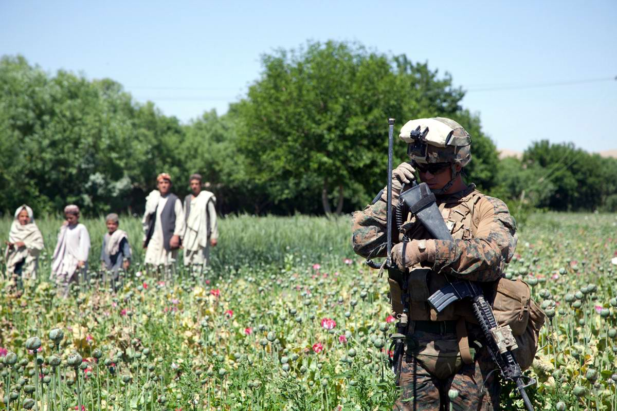 Посреди маковых полей Афганистана - фотографии военнослужащих корпуса морской пехоты США (26)