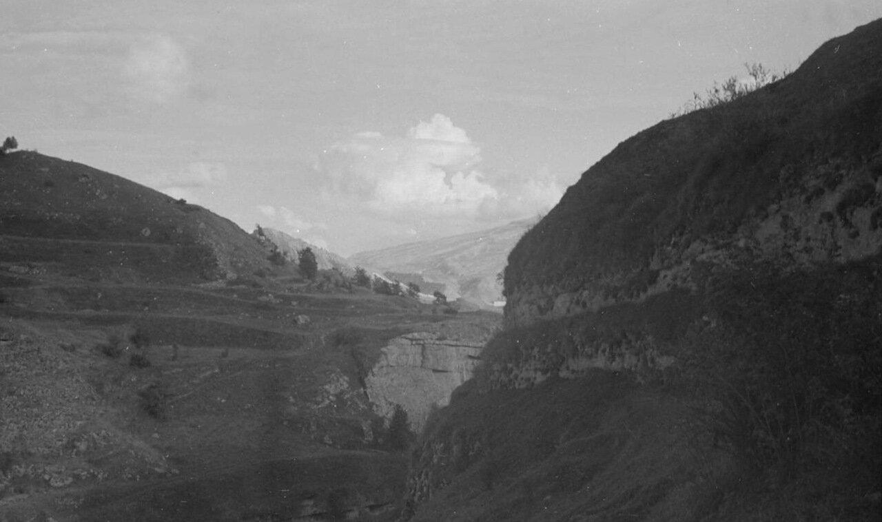 Горы и вид каньона