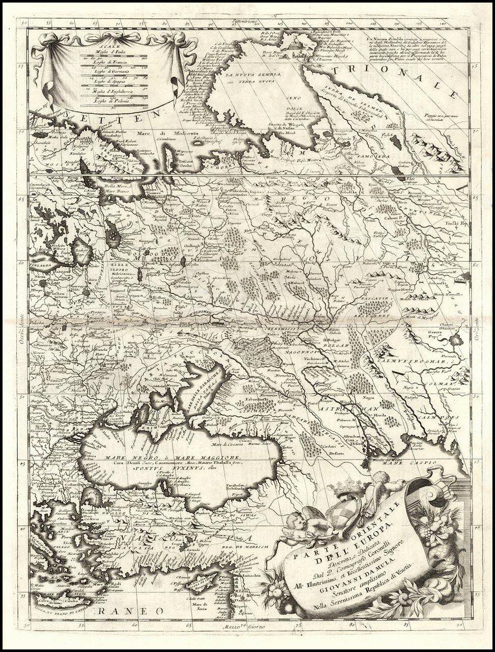 1692. Карта Европы