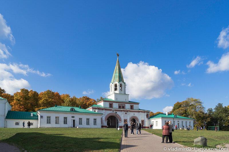 Ансамбль передних ворот в Коломенском