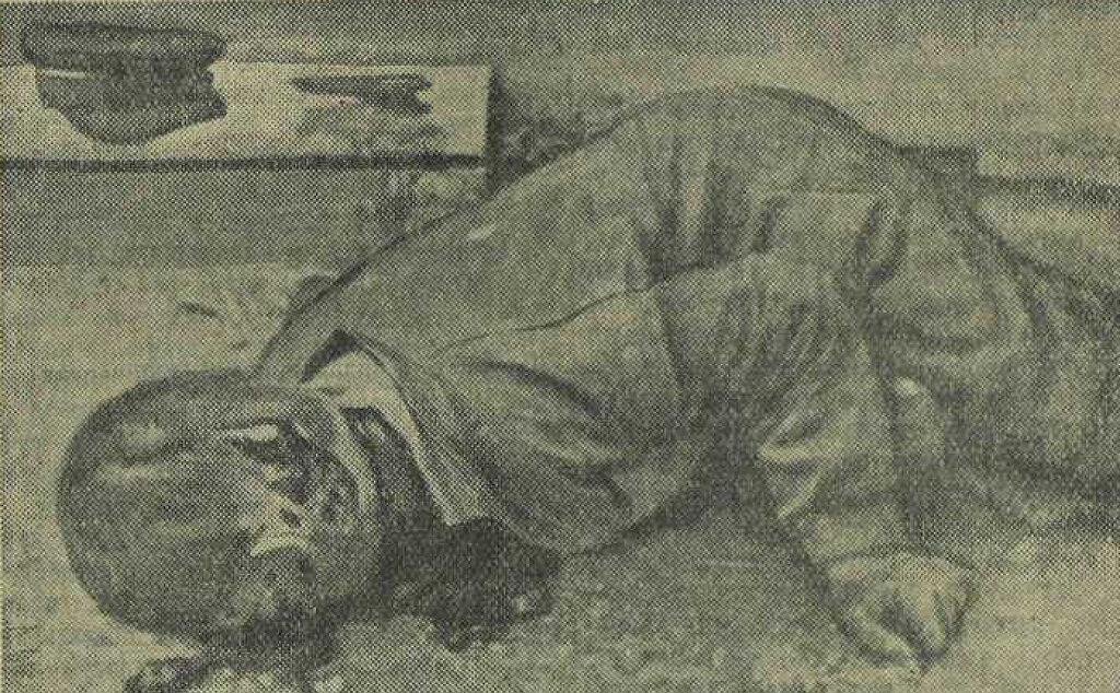 Зверски убитый германскими фашистами в г. Острове рабочий железнодорожник