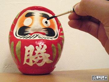 Японская кукла Дарума для счастливой жизни