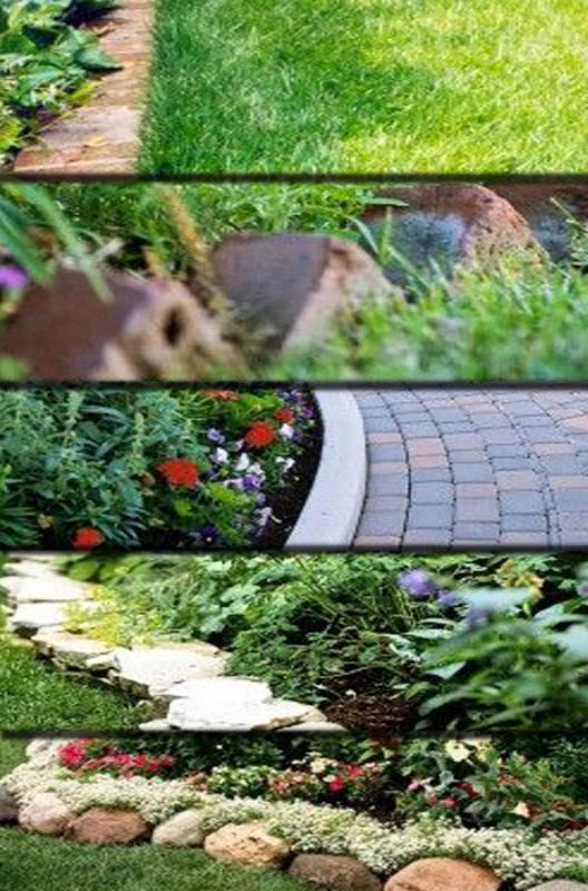 Граница газон-цветник, виды окантовки