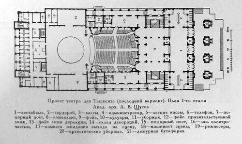 Здание театра в Ташкенте, конечный план