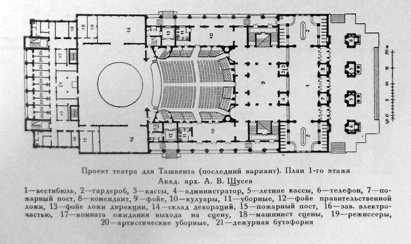 Здание театра в Ташкенте,