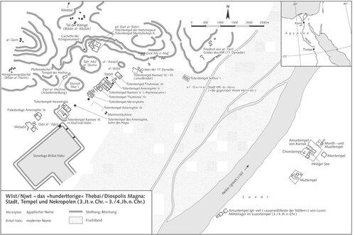 Фивы (Уасет), генеральный план
