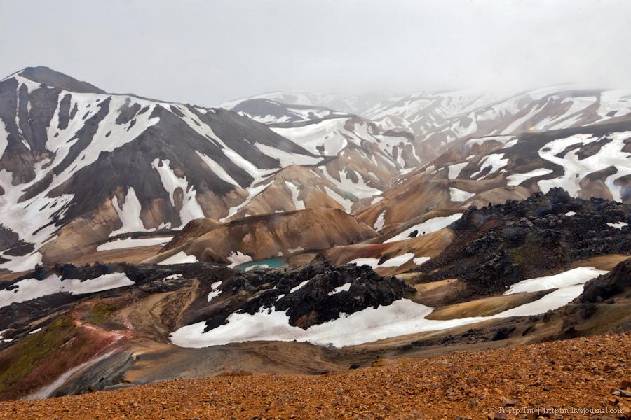 17. Цветные горы Ландманналойгар.