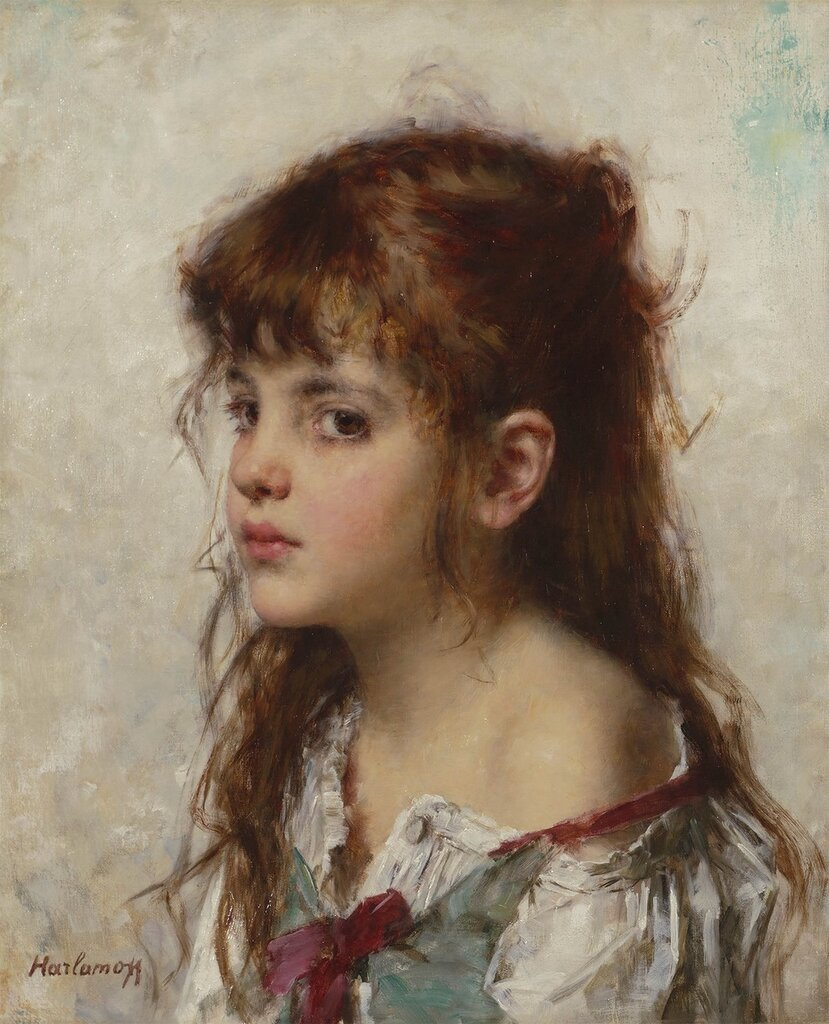 Alexei Alexeiwicz Harlamoff - Portrait of a young girl - 98639-20.jpg