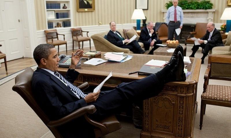 А тем временем в Белом доме… Интересные фотографии президента Барака Обамы